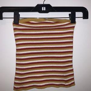 AE striped crop tube top